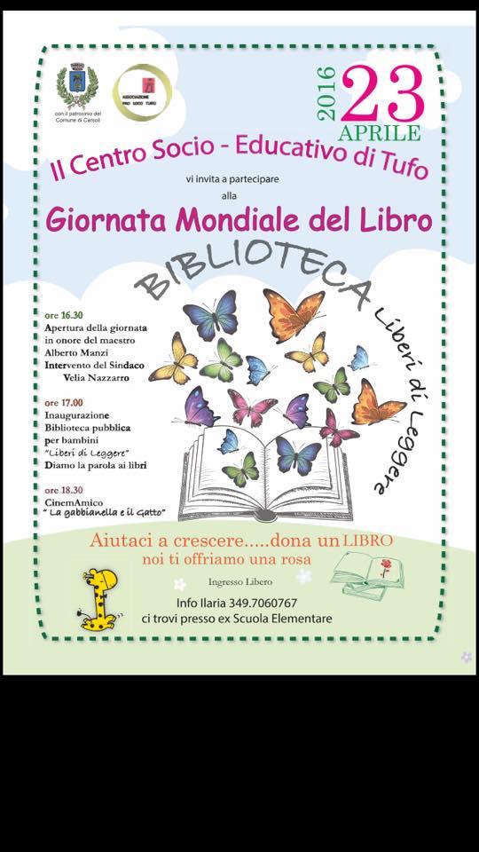 Giornata mondiale del libro - Biblioteca Liberi di Leggere