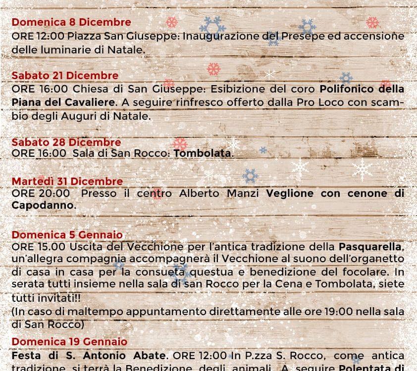 Calendario Eventi di Dicembre 2019